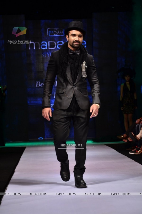 Ajaz Khan walks the ramp at the Madame Style Week