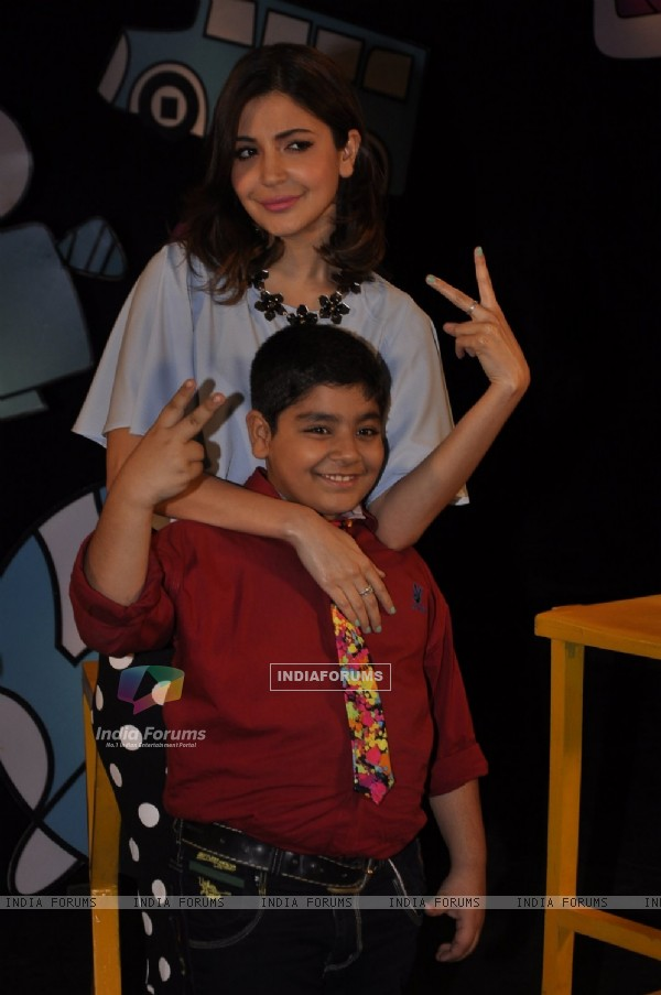 Anushka Sharma promotes P.K. on Captain Tiao
