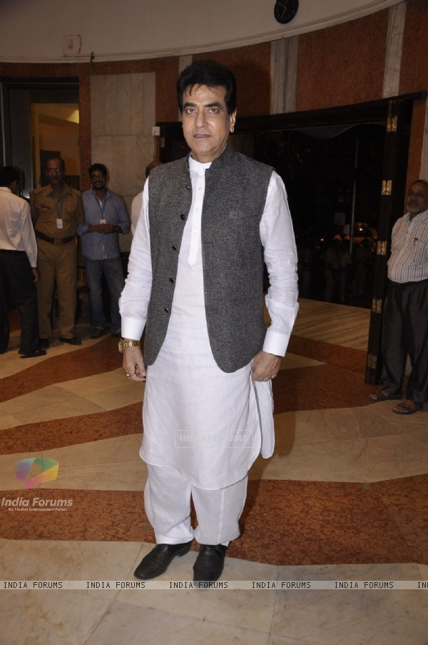Jeetendra poses for the media at Camel Colors Exhibition