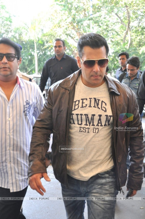 Salman Khan was snapped at Airport