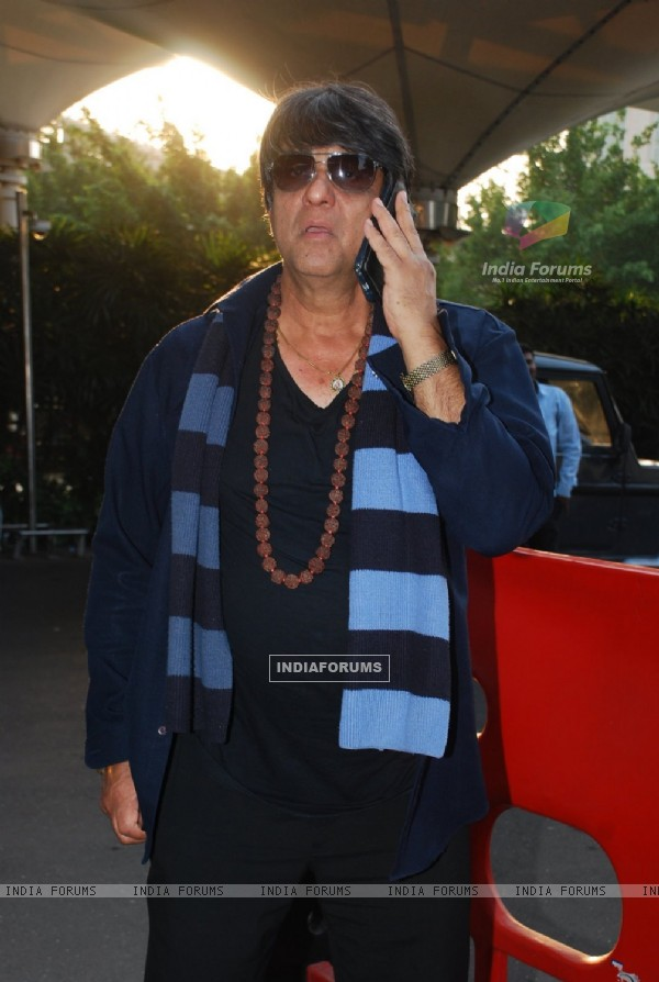 Mukesh Khanna was snapped at Airport
