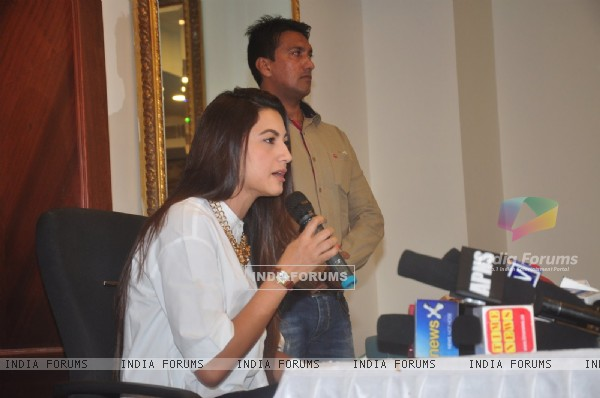 Gauahar Khan speaks to the Media