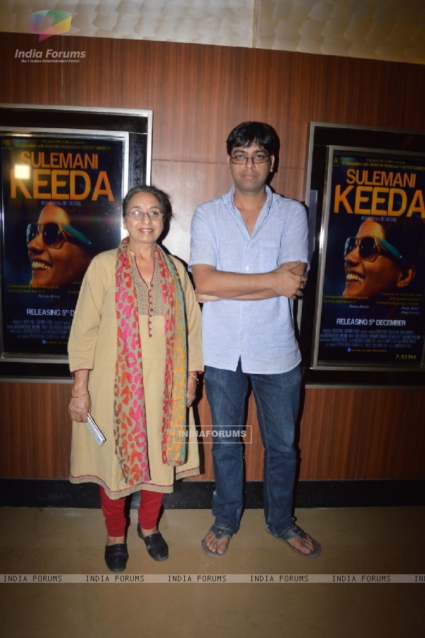 Navnindra Balh and Kanu Bahl pose for the media at the Premier of Sulemani Keeda