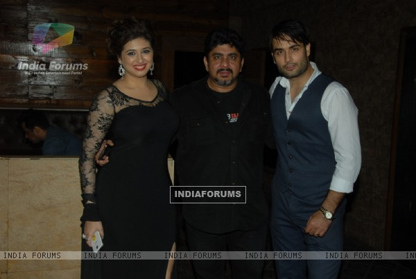 Rajan Shahi poses with Vahbbiz Dorabjee Dsena and Vivian Dsena at the Birthday Bash