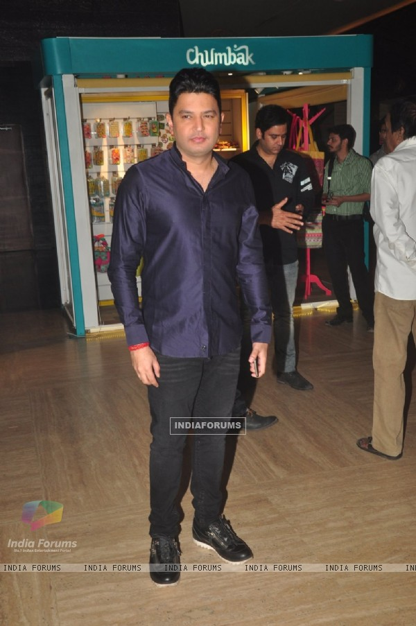 Bhushan Kumar poses for the media at the Trailer Launch of BABY
