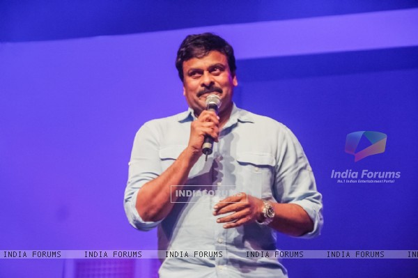 Chiranjeevi addressing the audience at HudHud Relief Fundraising Campaign