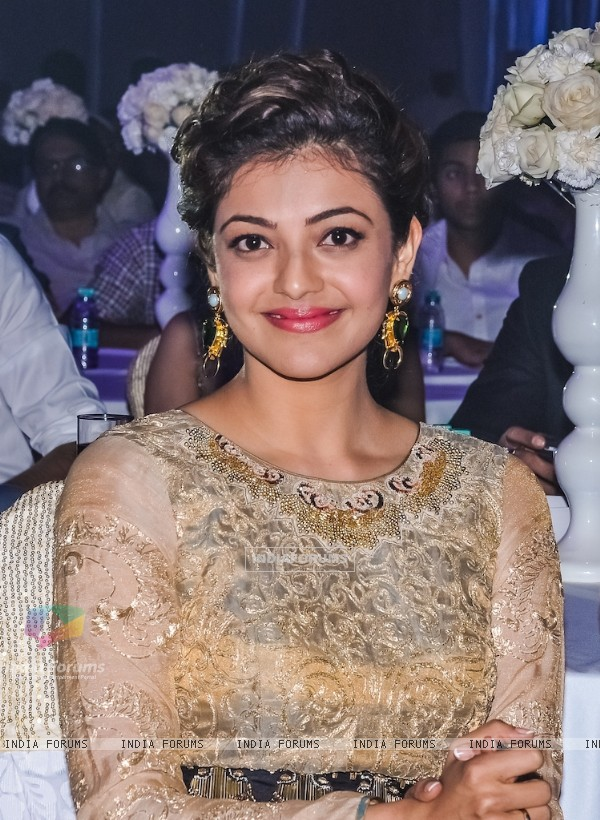 Kajal Aggarwal poses for the media at HudHud Relief Fundraising Campaign