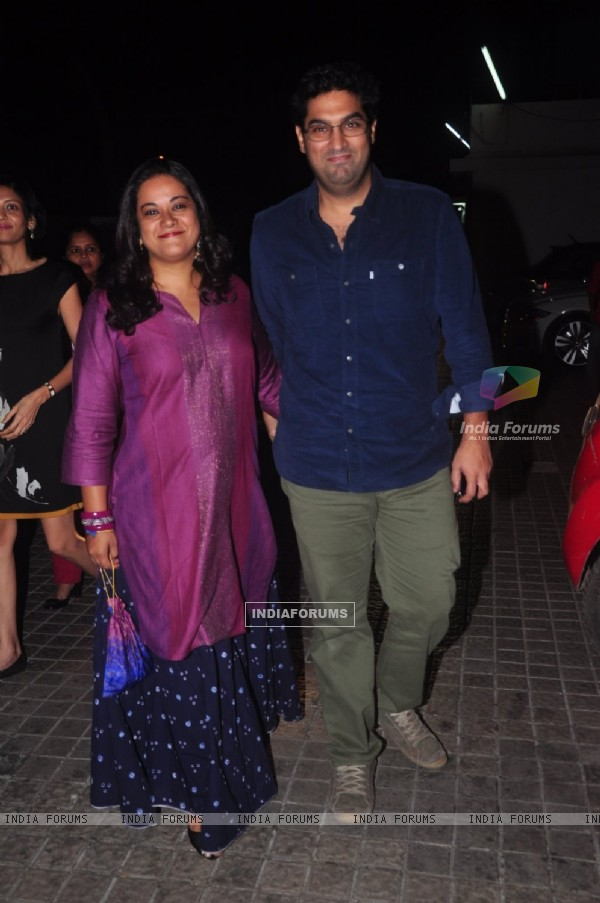 Kunal Roy Kapur poses with wife Shayonti Roy Kapur at the Special Screening of Action Jackson