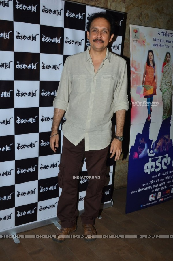 Tushar Dalvi poses for the media at the Special Screening of Candle March