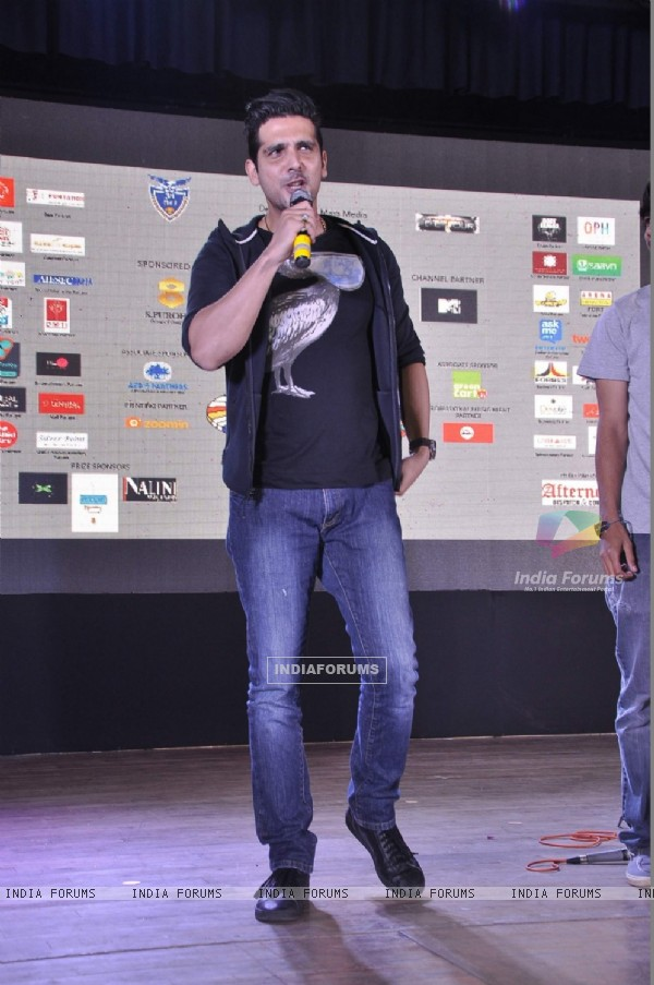 Zayed Khan addresses the Promotional event of Sharafat Gayi Tel Lene