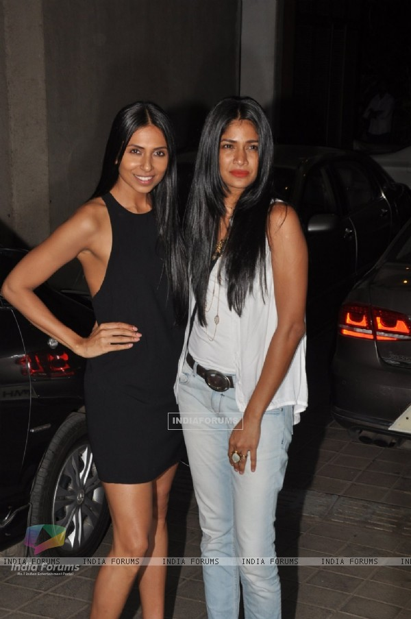 Carol Gracias with a friend at Manish Malhotra's Birthday Bash