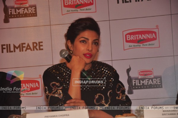 Priyanka Chopra answers the questions of the media at the Launch