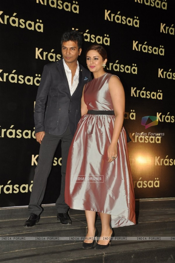 Huma Qureshi with Vikram Phadnis at his Store Launch