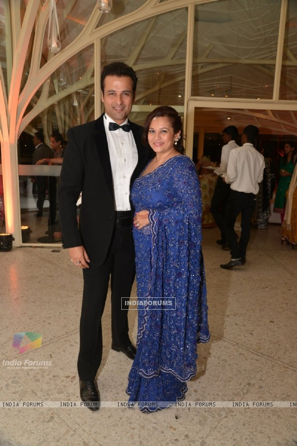 Rohit Roy & Manasi Joshi at Purbi Joshi & Valentino's Wedding