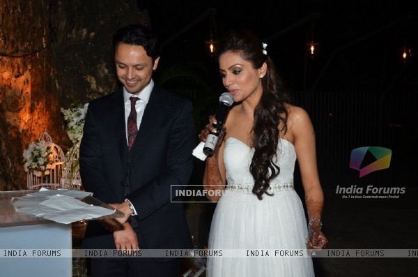 Purbi Joshi & Valentino make their Wedding Vows