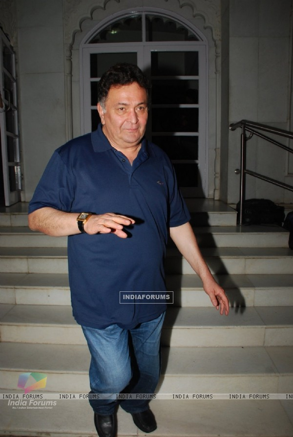 Rishi Kapoor was seen at the Prayer Meet For Megha Jalota