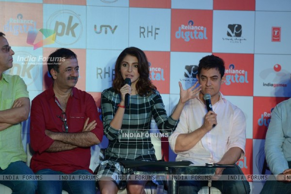 Anushka Sharma interacts with the audience at P.K. Game Launch