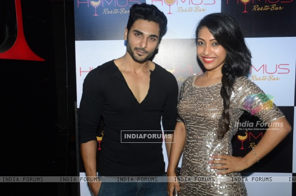 Bharat Chawda and Saumya Shetty poses for the media at A Soiree Evening at HYMUS