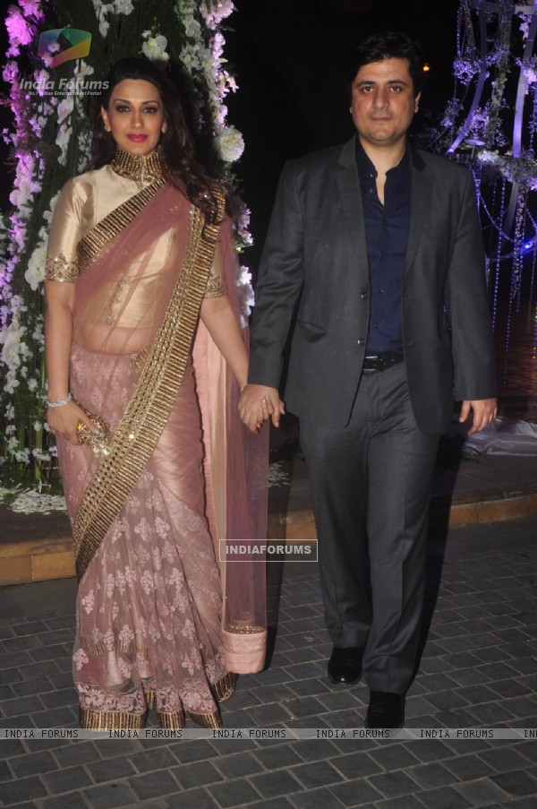 Sonali Bendre and Goldie Behl at the Sangeet Ceremony of Riddhi Malhotra and Tejas Talwalkar