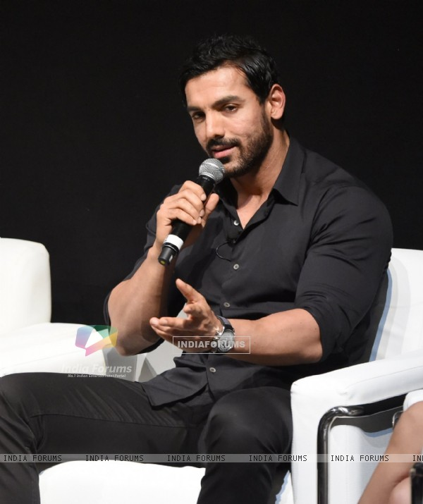John Abraham was snapepd at Abu Dhabi Film Festival