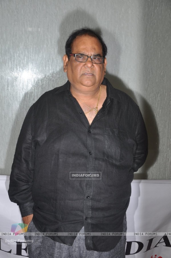 Satish Kaushik poses for the media at Kavita Seth's Fund Raiser Concert for Alert India