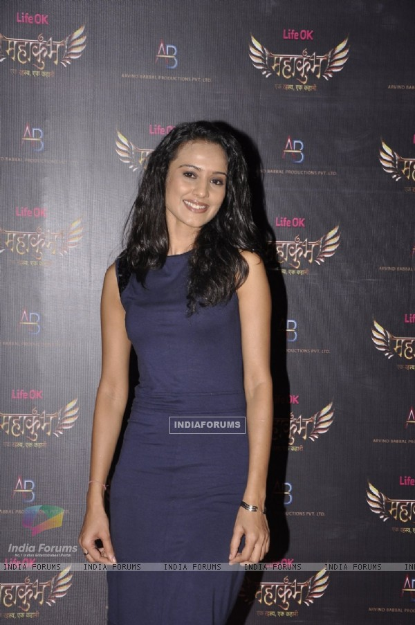 Vinita Joshi poses for the media at the Launch of Mahakumbh