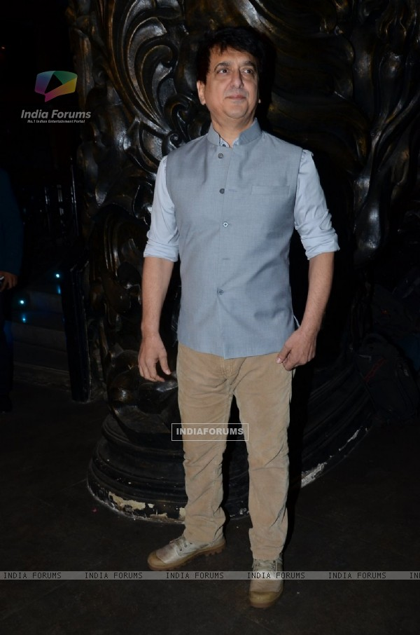 Sajid Nadiadwala poses for the media at his Film Launch