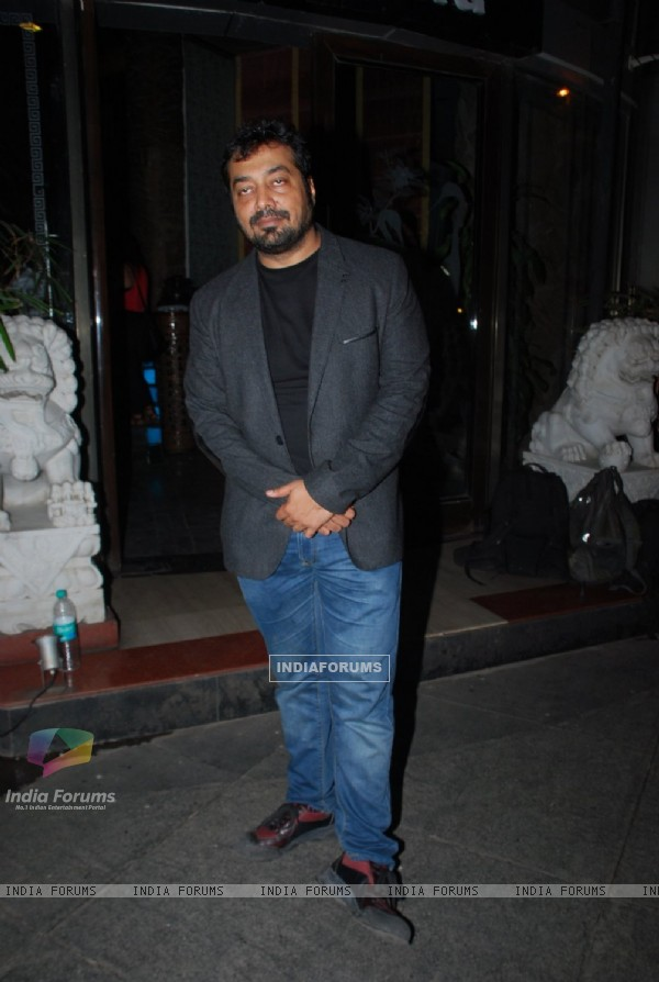 Anurag Kashyap poses for the media at Richa Chadda's Birthday Bash