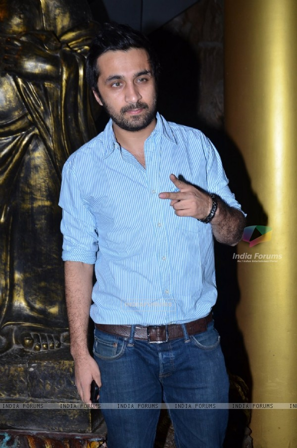 Siddhant Kapoor poses for the media at Richa Chadda's Birthday Bash