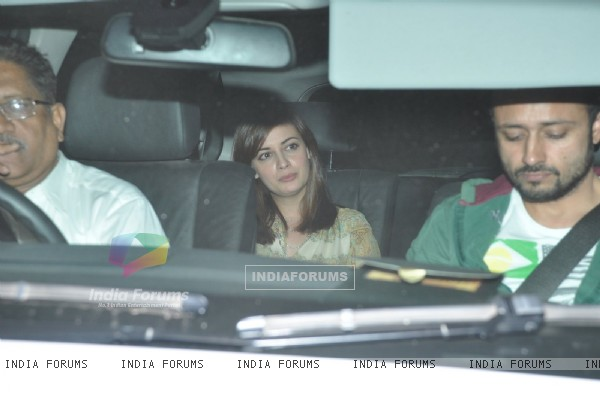 Dia Mirza was snapepd at the Special Screening of P.K. at Yashraj Studio