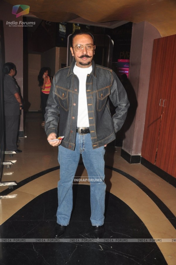 Gulshan Grover poses for the media at the Special Screening of P.K.