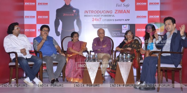 Celebs during the Panel discussion at the Launch of Ziman by Zicom Electronic Security Systems Ltd