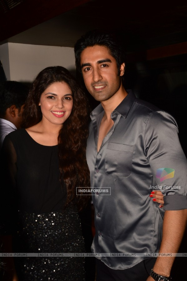 Ishaan Singh Manhas poses with a friend at India-Forums 11th Anniversary Bash