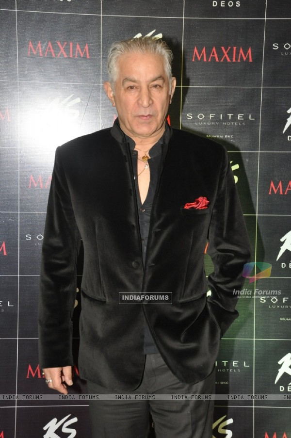 Dalip Tahil poses for the media at KS Maxim Girl Contest