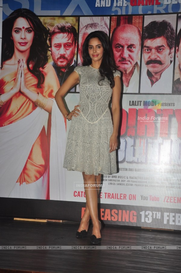 Mallika Sherawat poses for the media at the Press Conference of Dirty Politics
