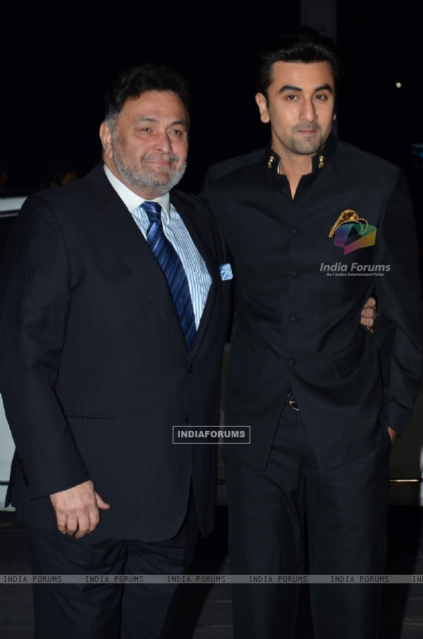 Rishi and Ranbir Kapoor at Uday Singh and Shirin's Reception Party