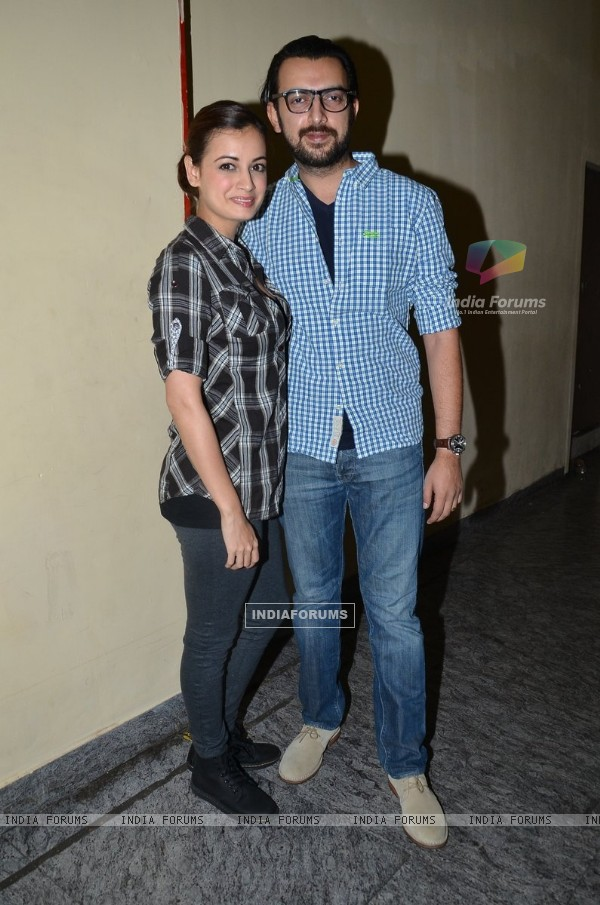 Dia Mirza was with her husband at the Premier of Ugly