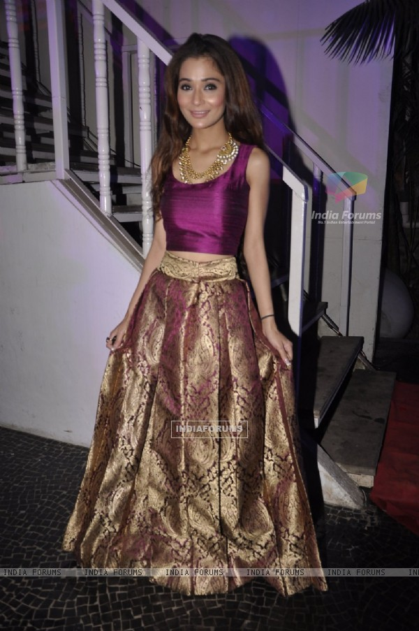 Sara Khan was seen at the Telly Calendar Launch