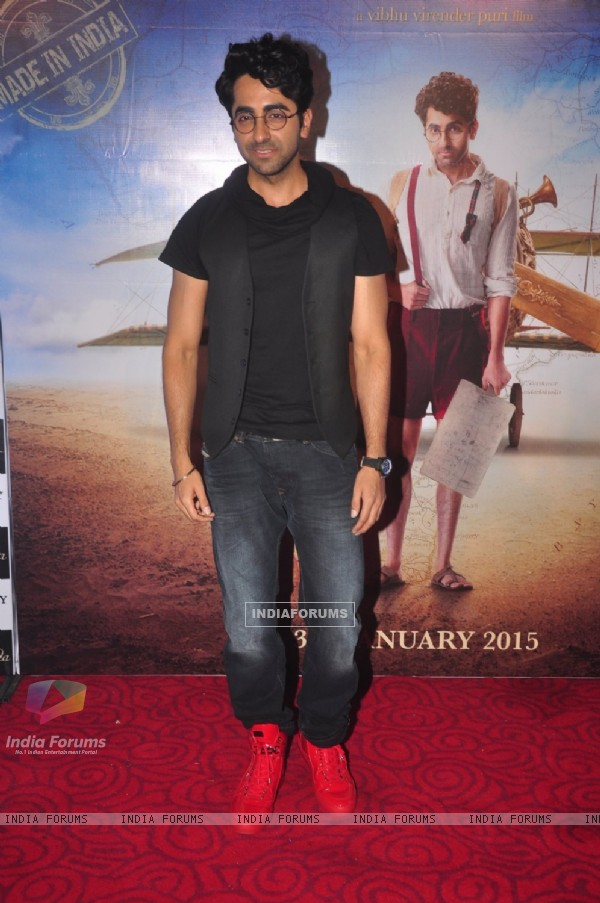 Ayushmann Khurrana poses for the media at the Trailer Launch of Hawaizaada