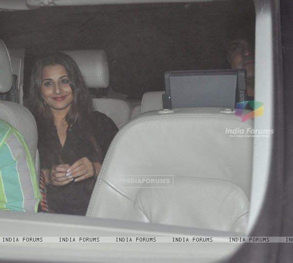 Vidya Balan and Siddharth Roy Kapur were snapped at Salman Khan's Birthday Bash