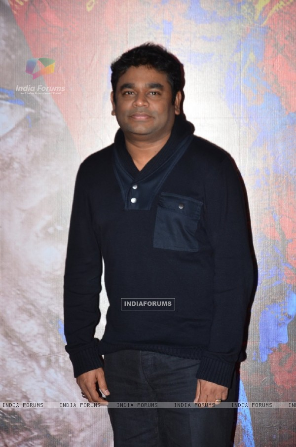 A.R. Rahman poses for the media at the Trailer Launch of I