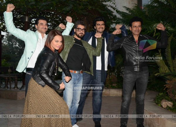 Team of Tevar was snapped during the Promotions in Delhi