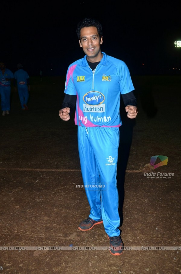 Samir Kochhar poses for the media at CCL Practice Session