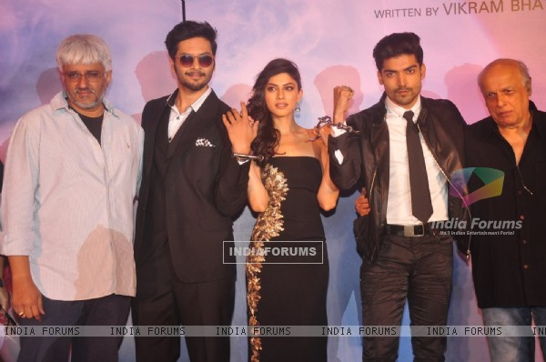 Team poses for the media at the Music Launch of Khamoshiyan