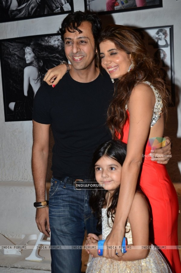 Salim Merchant poses with Manisha Ratnani at the Calendar Launch