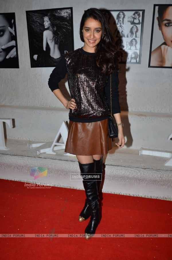 Shraddha Kapoor poses for the media at Dabboo Ratnani's Calendar Launch