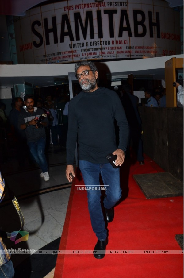 R. Balki was snapped at the Trailer Launch of Shamitabh