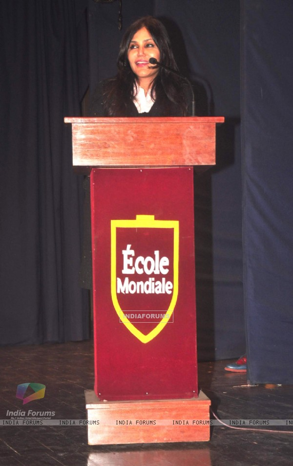 Nisha Jamwal interacts with the audience at the Launch of Neha Premjee's New Book '#College'