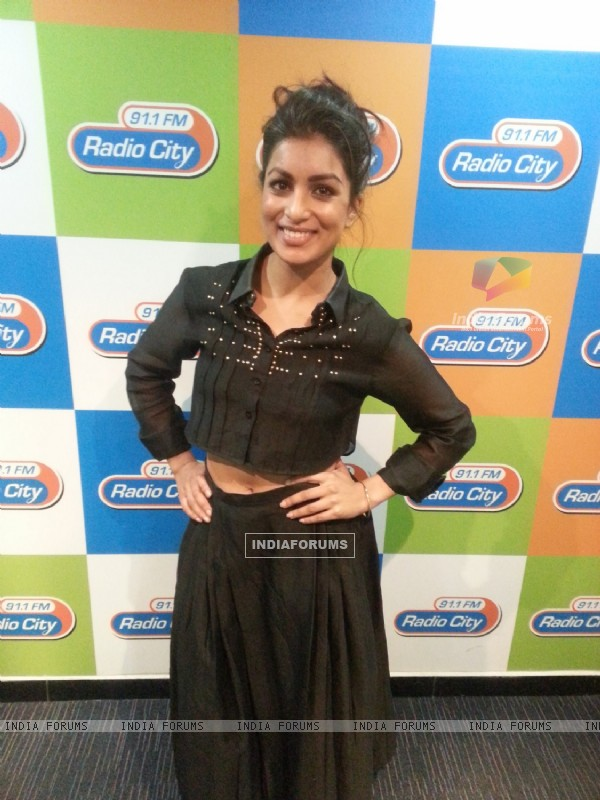 Pallavi Sharda was seen at the Promotions of Hawaizaada on Radio City 91.1 FM