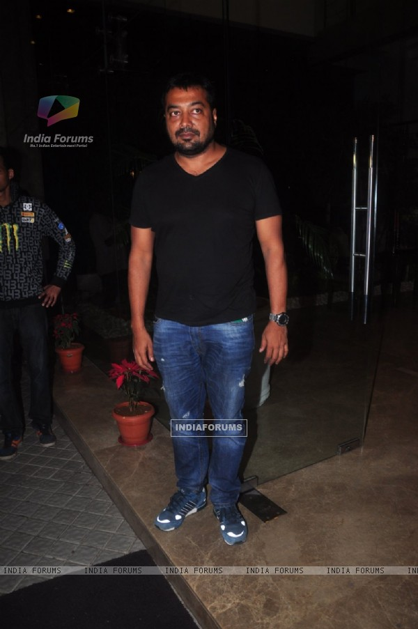Anurag Kashyap poses for the media at Farah Khan's Birthday Bash